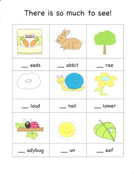 Initial Consonant Sounds, Counting & Sorting Activity for pre-K and K
