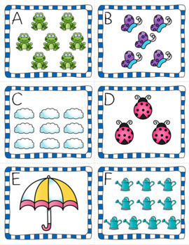 Spring Math & Literacy Centers for Pre-K and Kindergarten