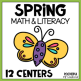 Spring Math & Literacy Centers for Pre-K and Kindergarten {BUNDLE}