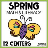 Spring Centers: Math & Literacy Activities for Pre-K & Kindergarten BUNDLE