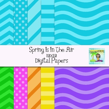 Spring Is In The Air Digital Papers
