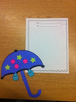 Spring Umbrella Glyph and Writing Activities