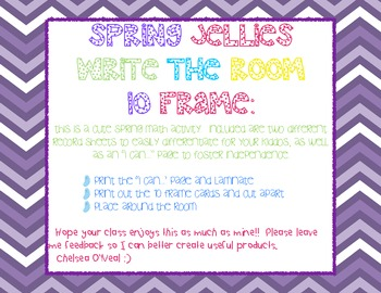 Spring Jellies:  Write the Room 10 Frame