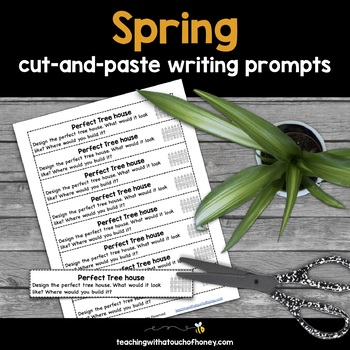 Writing Prompts For Spring: 25 Cut-And-Paste Writing Prompts