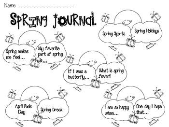 Spring Journal Starters
