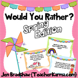 Spring Journal Writing Prompts, WOULD YOU RATHER?