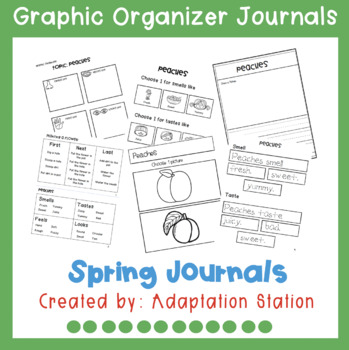 Spring Journals with Graphic Organizer Supports