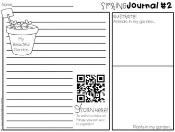 Spring Journal Writing Activity