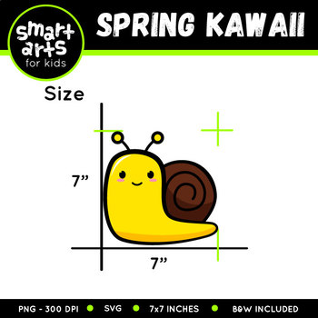 Spring Kawaii Clip Art