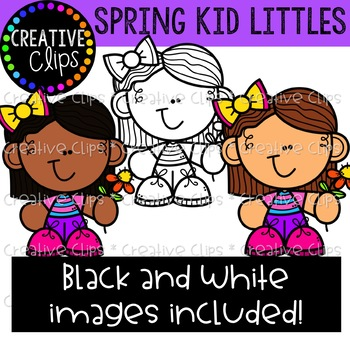 Spring Kid Littles {Creative Clips Clipart}
