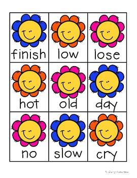 Spring Kiddos: Antonyms Match Center (Basic)
