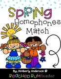 Spring Kiddos: Homophones Match Center