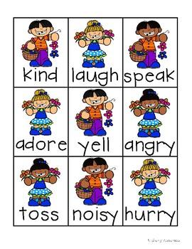 Spring Kiddos: Synonyms Match Center (Basic)