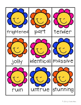 Spring Kiddos: Synonyms Match Center (Higher Level)