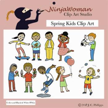 Spring Kids Clip Art