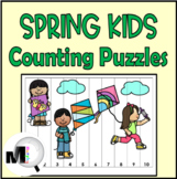 Number Order Puzzles 1 - 120 Spring Theme