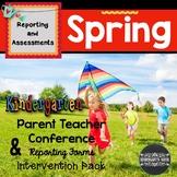 Spring Kindergarten Conference Report and Intervention Homework