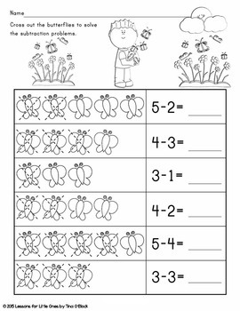 Spring Kindergarten Language Arts & Math Bundle Common Core Aligned