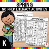 Spring Literacy Activities (Kindergarten) Distance Learning