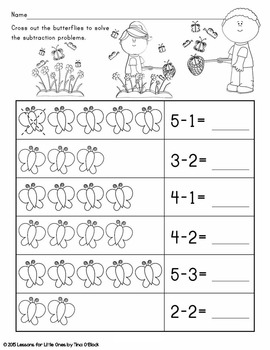 Spring Kindergarten Math Differentiated No Prep Activity Pages (Common Core)