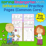 Spring Kindergarten Math Differentiated No Prep Activity P