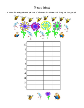 Spring Kindergarten Math Graphing Flowers Bees Birds Numbe