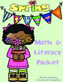 Spring Kindergarten Math & Literacy Activities (Common Cor