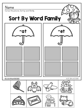 Spring - Kindergarten Math and ELA Practice - FREEBIE!