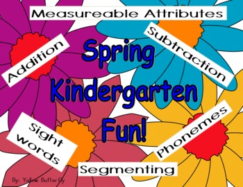 Spring Kindergarten Math and Literacy Centers (Common Core)