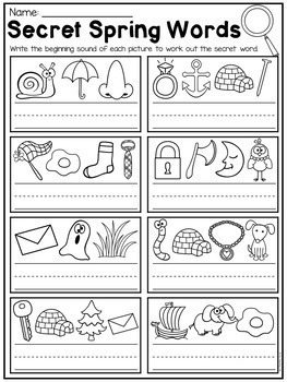 Spring Kindergarten Math and Literacy Worksheet Pack by My ...