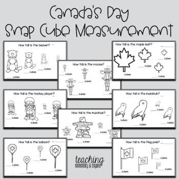 Canadian Kindergarten Measurement Activities with Snap Cubes