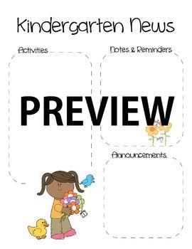 Spring Kindergarten Newsletter