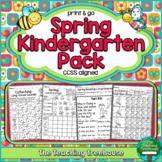 Spring Kindergarten Pack ~ Print & Go, No Prep ~ CCSS Aligned