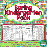 Spring Kindergarten Pack, No Prep, CCSS Aligned