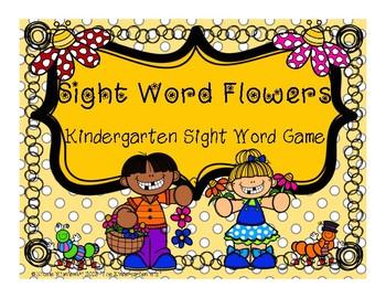 Spring Kindergarten Sight Word Game