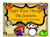 Seasonal Kindergarten Sight Word Games