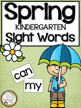 Spring Kindergarten Sight Words