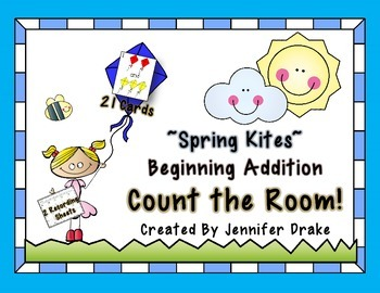 Spring Kite 'Count/Add the Room'  **Beginning Addition Count the Room**  Up to 5