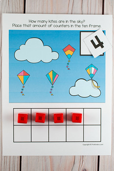 Spring Kites Ten Frame Game  (Pre-K + K Math)