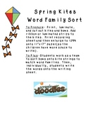 Spring Kites Word Family Sort and Write