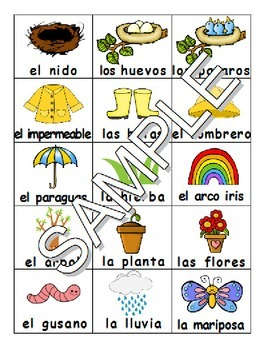 Spring / La primavera SPANISH Workbook & Games Package