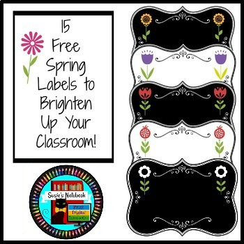 Spring Labels to Brighten Your Classroom
