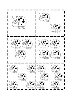 Spring Ladybug Count and Match Game