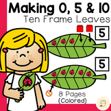 Spring Ladybug and Ten Frame Leaf Game Set (0, 5, and 10)
