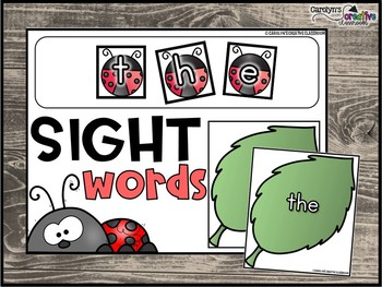 Spring Ladybugs Literacy Center - Building Fry Sight Word Center