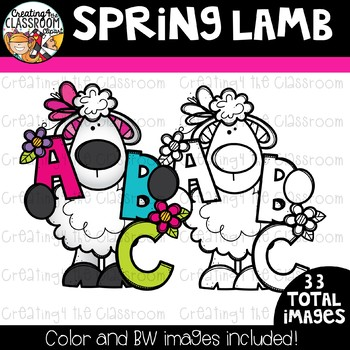 Spring Lamb Clipart {Spring Clipart}