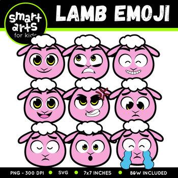 Spring Lamb Emoji Clip Art