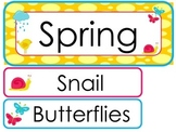 Spring  Word Wall Weekly Theme Posters.