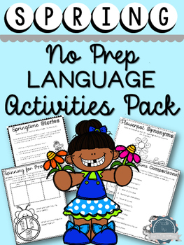 Spring Language Activities Pack- for Speech Therapy, EAL a