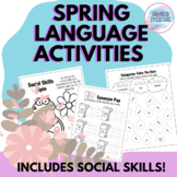 Spring Language Activities | Social Skills Included